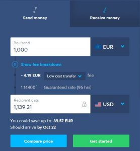 transferWise calculator