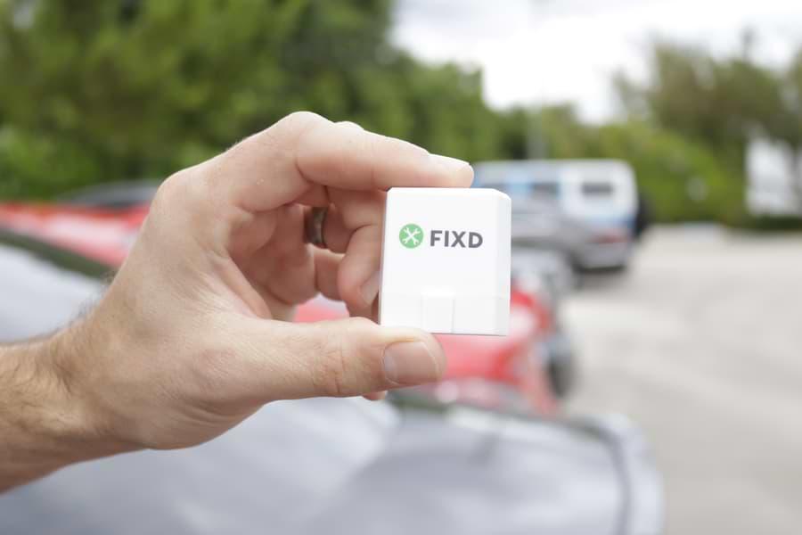 holding fixd obd2 scanner